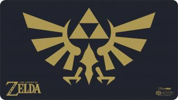 The Legend of Zelda - Black & Gold Hyrule Crest Playmat with Playmat Tube