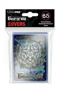 Gold Magic Circle Sleeve Covers for Force of Will 65ct with Hymnal\'s Memoria Promo