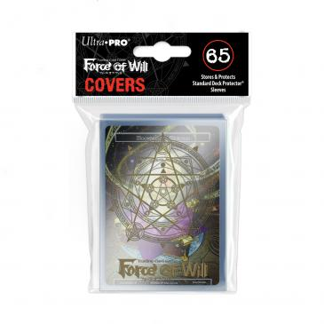 Gold Magic Circle Sleeve Covers for Force of Will 65ct with Moonbreeze\'s MemoriaPromo
