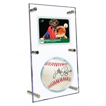 Clear Ball & Card Flip Display
