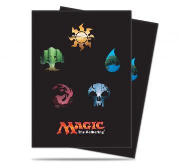 Ultra Pro Magic the Gathering MTG Series 4 Five Mana Symbols Card Sleeves 80ct