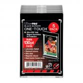 130PT Black Border UV ONE-TOUCH Magnetic Holder (5 count retail pack)