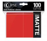 Eclipse Matte Standard Sleeves: Apple Red