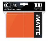 Eclipse Matte Standard Sleeves: Pumpkin Orange
