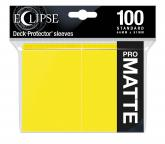 Eclipse Matte Standard Sleeves: Lemon Yellow