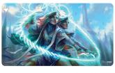 Adrix and Nev, Twincasters, Strixhaven Playmat featuring Quandrix for Magic: The Gathering