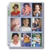 "3-Hole Photo Page 10ct Pack for 2 ½"" x 3 ½"" Prints (Wallet Size)"