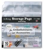 3-Hole Storage Page with Flaps 10ct