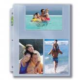 "3-Hole Photo Page for 4"" x 6"" Prints (300ct Bulk)"