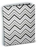 Chevron Black & White 4x6 Mini Photo Album