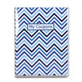 9-Pocket Coupon Organizer Portfolio - Chevron Blue