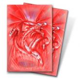 Red Diamond Dragon Small Deck Protectors by Monte Moore 50ct