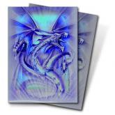Navy Diamond Dragon Standard Deck Protectors by Monte Moore 50ct