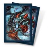 Trinity Dragon Multi Small Deck Protectors by Monte Moore 60ct