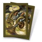 Trinity Dragon Gold Small Deck Protectors by Monte Moore 60ct