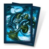 Trinity Dragon Blue Small Deck Protectors by Monte Moore 60ct