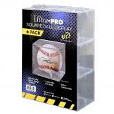 Baseball Clear Square UV Holder Value 6-Pack