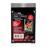 35PT Black Border UV ONE-TOUCH Magnetic Holder - 5 Pack