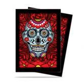 Dia De Los Muertos Blue Skull Standard Deck Protectors 50ct
