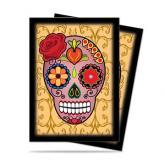 Dia De Los Muertos Pink Skull Standard Deck Protectors 50ct