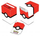 Pokémon Poké Ball  Red and White Full-View Deck Box