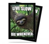 Sloth: Live Slow, Die Whenever Standard Deck Protectors 50ct