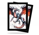 Black Dragon Small Size Deck Protector by Mauricio Herrera 60ct