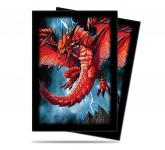 Demon Dragon Small Size Deck Protector by Mauricio Herrera 60ct