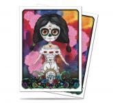 Dia De Los Muertos Doll Standard Size Deck Protector Sleeves 50ct
