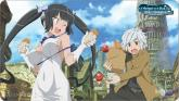 Bell & Hestia Playmat - Is It Wrong to Try to Pick Up Girls in a Dungeon?