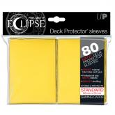 PRO-Matte Eclipse Yellow Standard Deck Protector sleeves 80ct