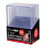 "3"" x 4"" Super Thick 360PT Toploader 5ct"