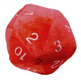 Jumbo D20 Novelty Dice Plush in Red with White Numbering