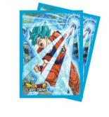 Dragon Ball Super Standard Size Deck Protector sleeves 65ct. - Super Saiyan Blue Son Goku