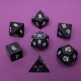 Dice Gemstone 7 RPG Set, Blue Sandstone