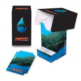 Mana 5 Island Full View Deck Box with Tray for Magic: The Gathering