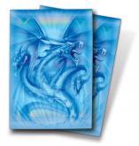 Navy Diamond Dragon Small Deck Protectors by Monte Moore 50ct